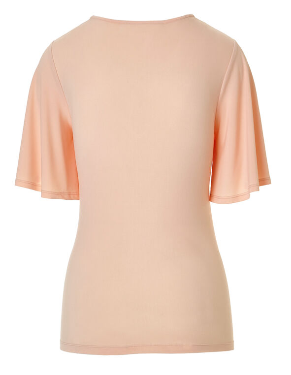 Light Apricot Bell Sleeve Top, Light Apricot, hi-res