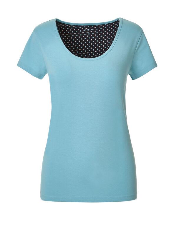 Aqua Dot Capri Pajama Set, Aqua, hi-res