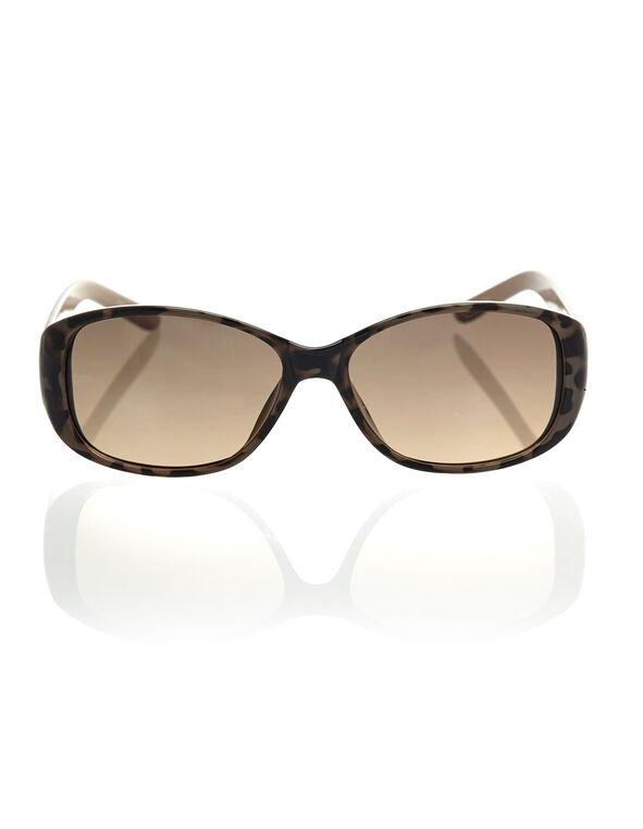 Brown Tort Small Frame Sunglasses, Brown, hi-res