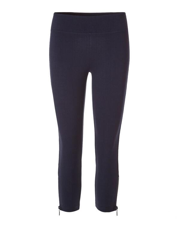 Navy Cotton Capri Legging, Navy, hi-res