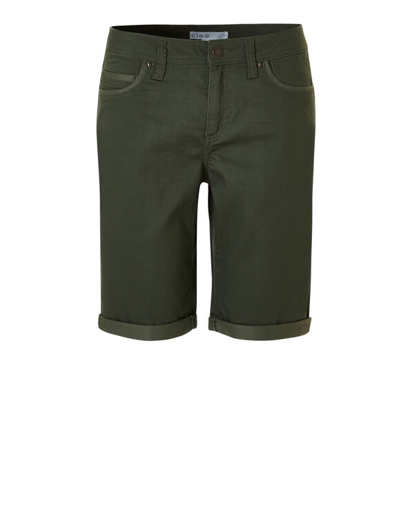 Duffel Green Denim Short, Duffel Green, hi-res