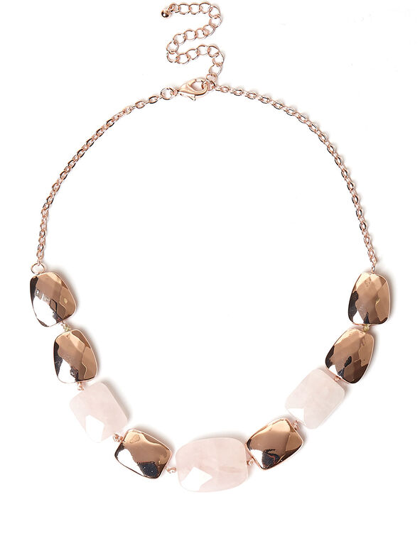 Rose Quartz Necklace, Pink, hi-res