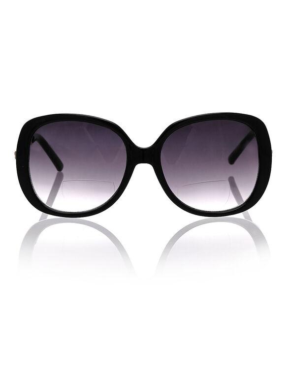 Black Oval Frame Sun Reader, Black, hi-res