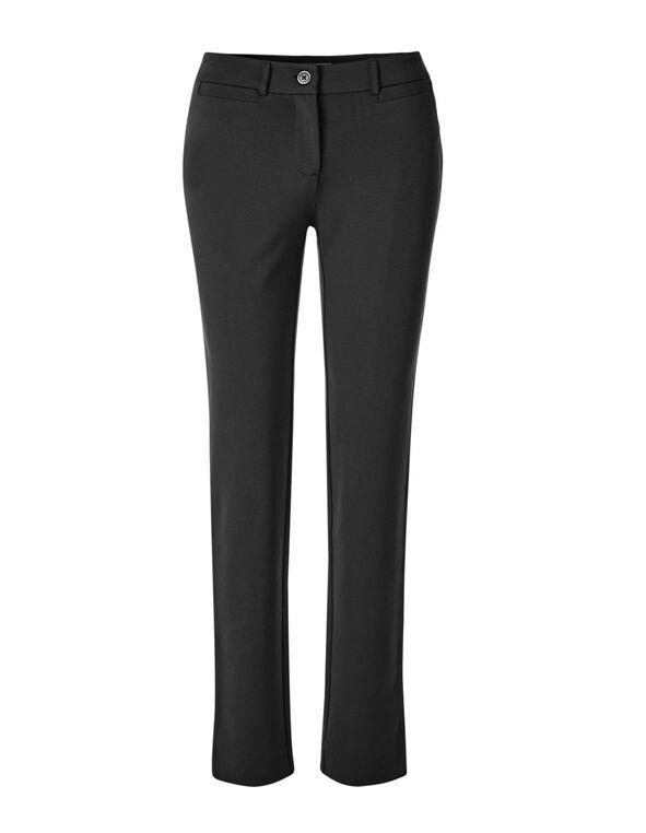 Black Long Comfort Stretch Slim Pant, Black, hi-res