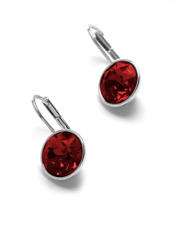 Siam Swarovski Earring, Siam, hi-res