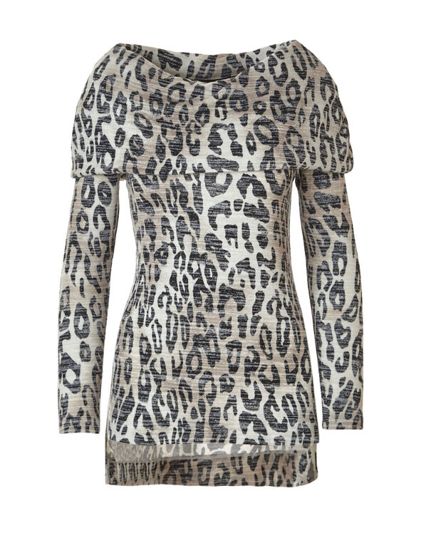 Animal Printed Hacchi Marilyn Top, Animal Print, hi-res