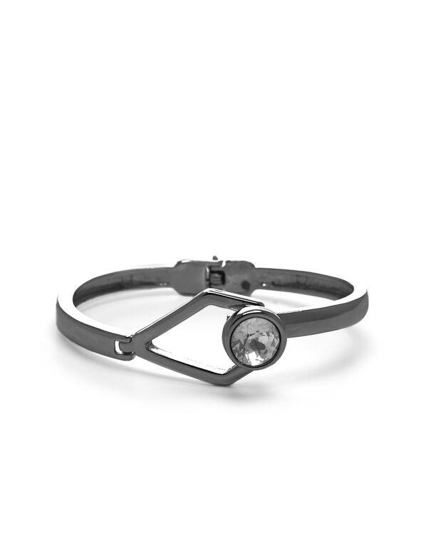 Hematite Hinge Bracelet, Hematite, hi-res