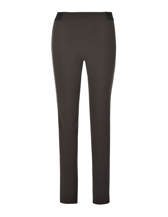 Brown Pull on Legging, Dark Brown, hi-res
