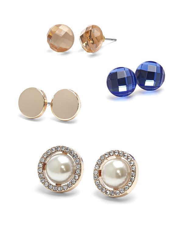 Convertible Bling Earring Set, Rose Gold, hi-res