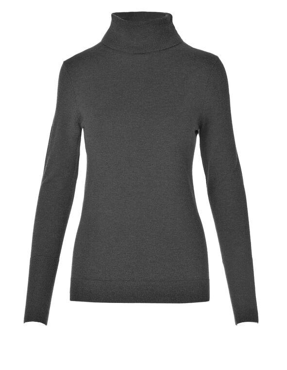 Grey Essential Turtleneck Sweater, Medium Grey, hi-res
