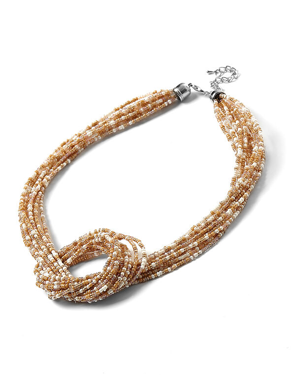 Neutral Seed Bead Necklace, Neutral, hi-res