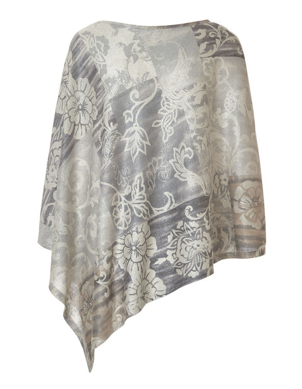 Neutral Paisley Hacchi Poncho, Natural, hi-res