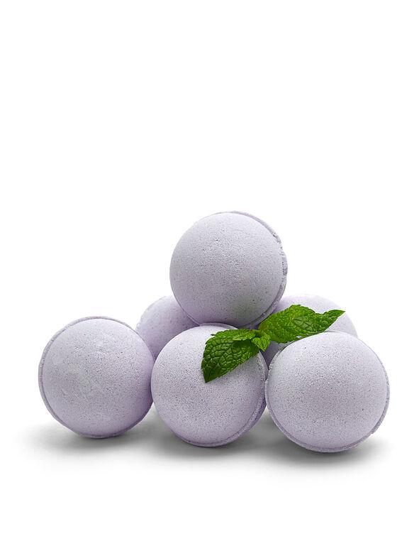 Lavender Mint 6 Pack Bath Fizzers, Purple, hi-res