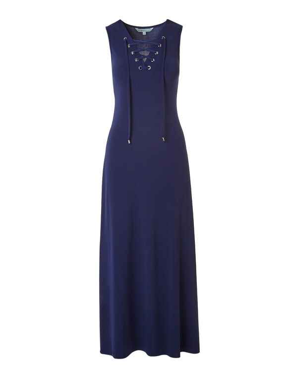 Ink Blue Lace Up Maxi, Ink Blue, hi-res