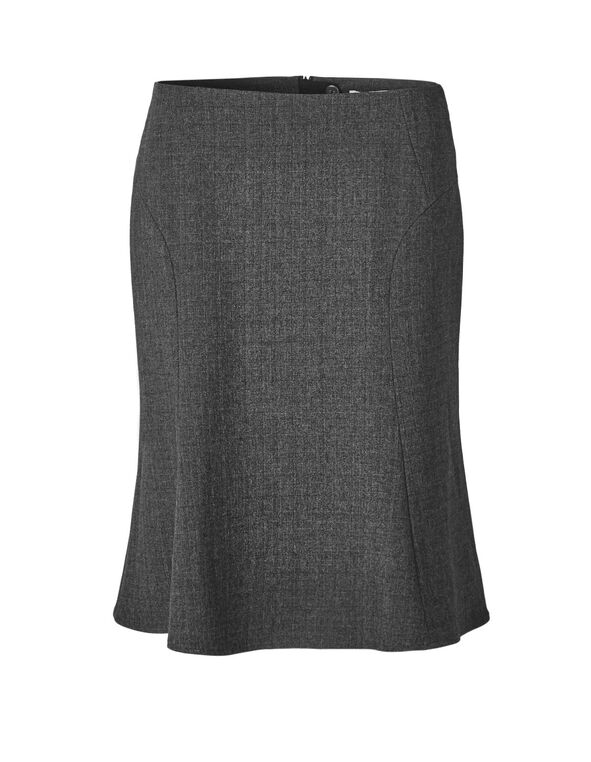 Charcoal Flippy Suiting Skirt, Charcoal, hi-res