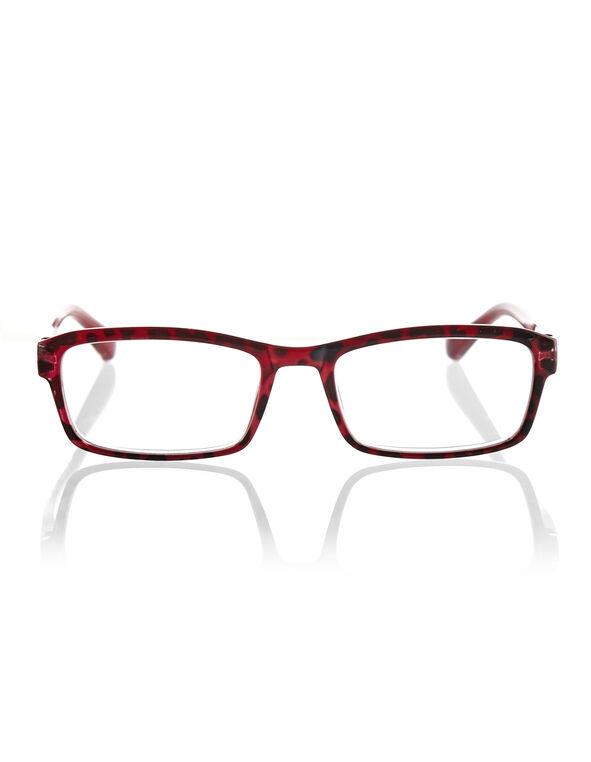 Red Leopard Print Reader, Red/Black, hi-res