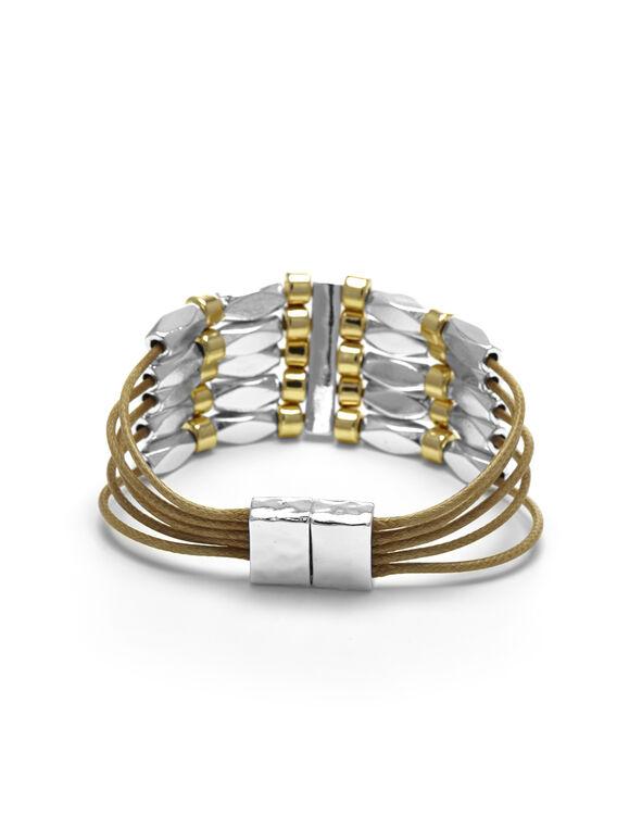 Neutral Cord Magnetic Bracelet, Neutral, hi-res