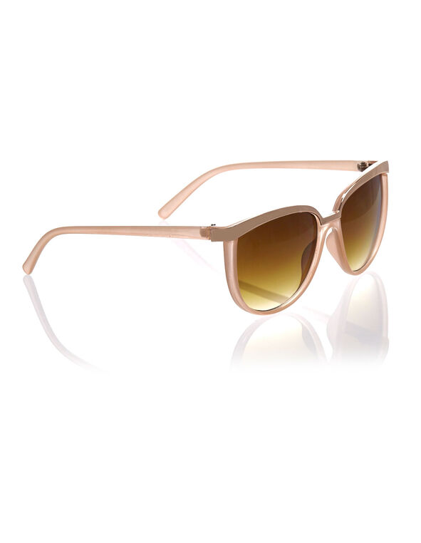 Neutral Pink Wayfarer Sunglasses, Pink, hi-res
