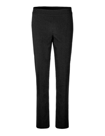 Black Pinstripe Signature Pant, Black/White, hi-res