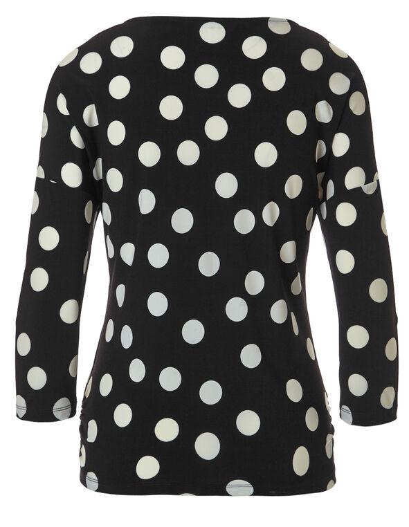Black Printed Dolman Sleeve Top, Black/Yellow Print, hi-res