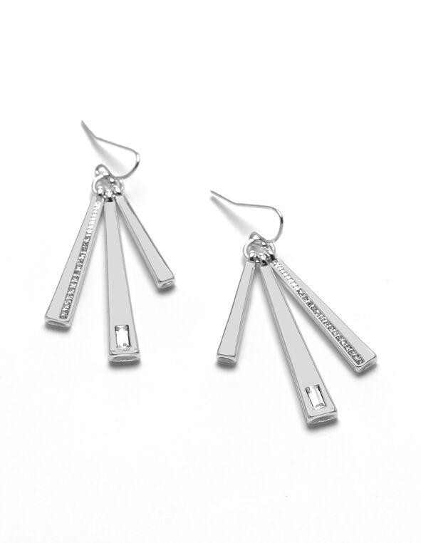 Silver Fringe Earring, Silver, hi-res