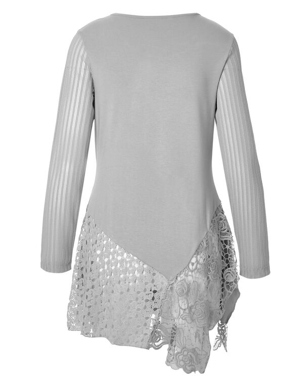 Light Grey Lace Tunic, Light Grey, hi-res