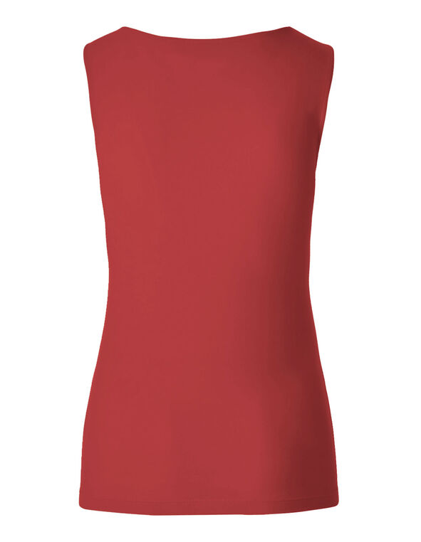 Red Essential Layering Top, Red, hi-res