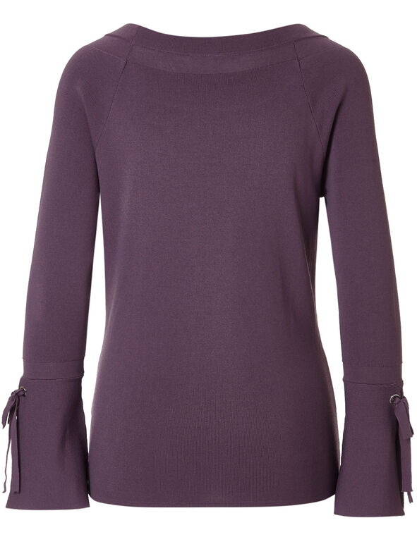 Orchid Bell Sleeve Sweater, Orchid, hi-res