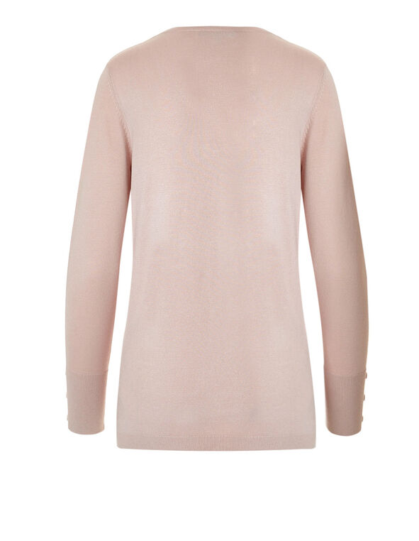 Dusty Pink V-Neck Sweater, Dusty Pink, hi-res