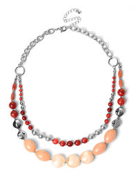 Pink Cracked Stone Necklace
