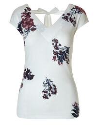 Ivory Printed Shell Top