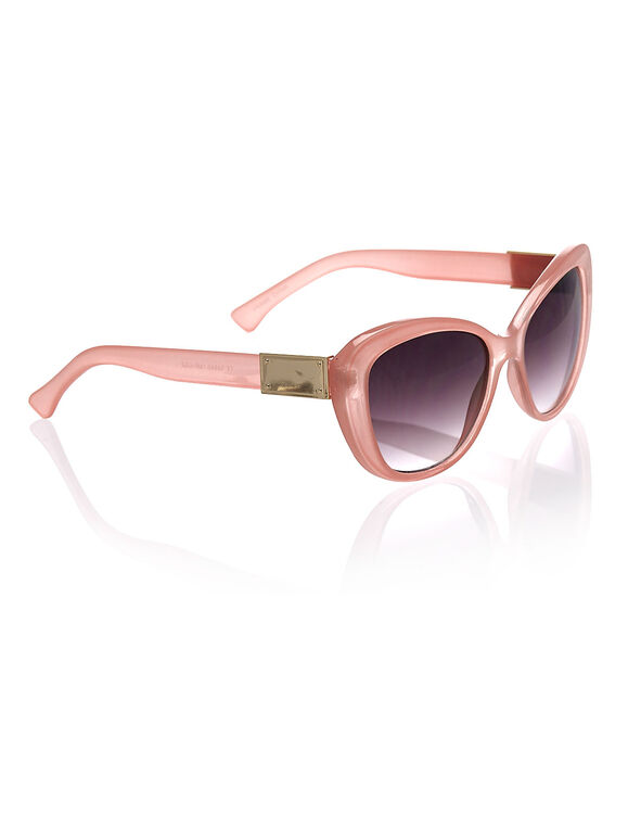 Apricot Cat Eye Frame Sunglasses, Apricot, hi-res