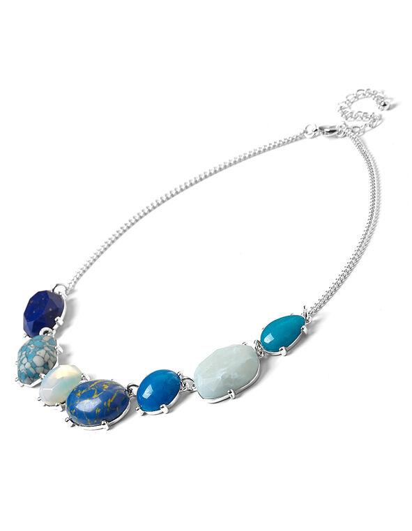 Cobalt Semi Precious Necklace, Cobalt, hi-res