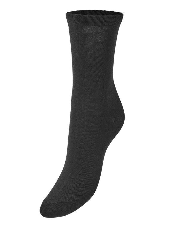 Black Crew Sock, Black, hi-res