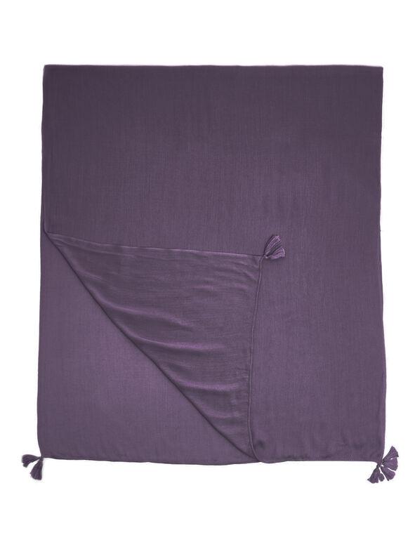 Tangled Plum Tassel Scarf, Purple, hi-res