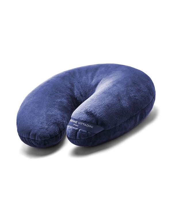 Blue Plush Travel Pillow, Blue, hi-res