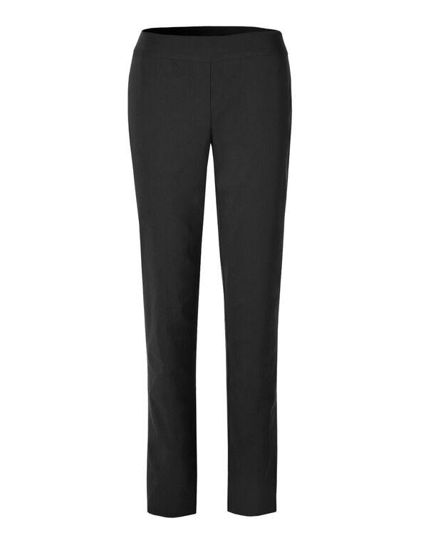 Black Slim Leg Cleo Signature Pant, Black, hi-res