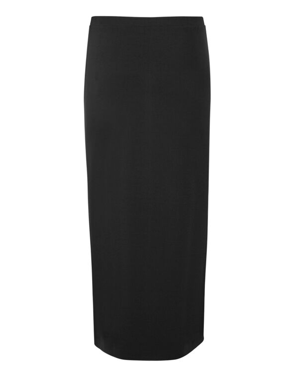 Black Maxi Pullon Skirt, Black, hi-res