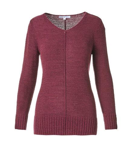 Clay V-Neck Sweater, Clay, hi-res
