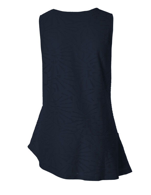 Navy Asymmetrical Popover Top, Navy, hi-res