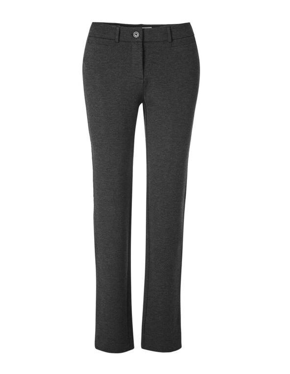 Charcoal Comfort Stretch Slim Pant, Charcoal, hi-res