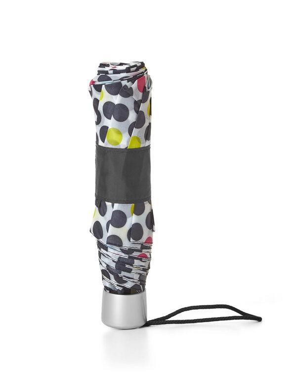 Multi-Dot Printed Umbrella, White/Black/Yellow/Pink, hi-res