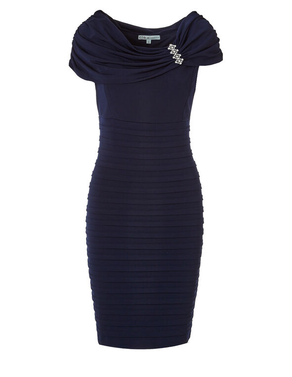 Navy Marilyn Sheath Dress, Navy, hi-res