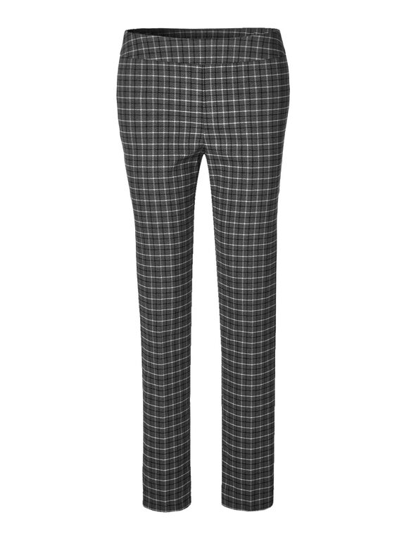 Cleo Signature Plaid Pant, Grey Plaid, hi-res