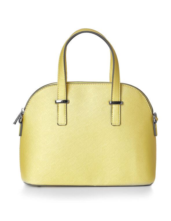 Yellow Small Dome Handbag, Yellow, hi-res