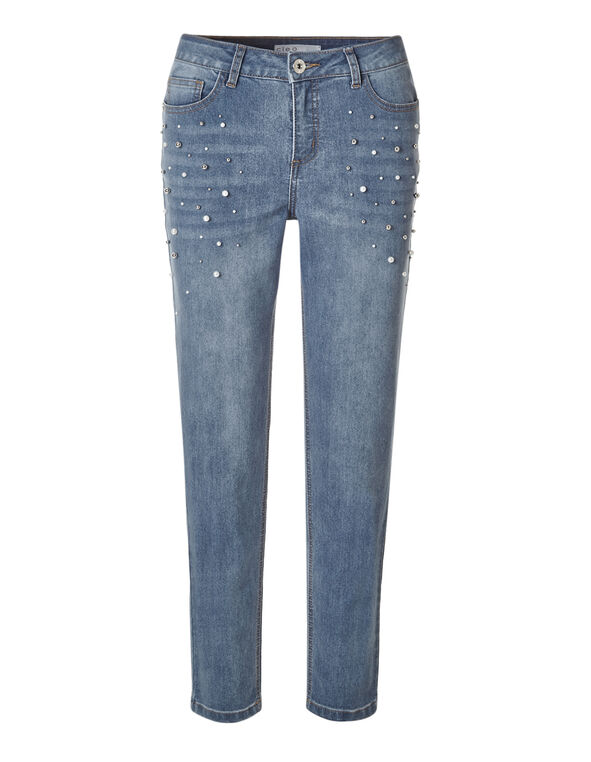 Light Wash Pearl Ankle Jean, Light Wash, hi-res
