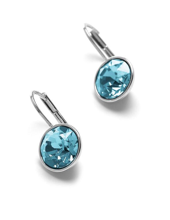 Aquamarine Swarovski Earring, Aqua, hi-res