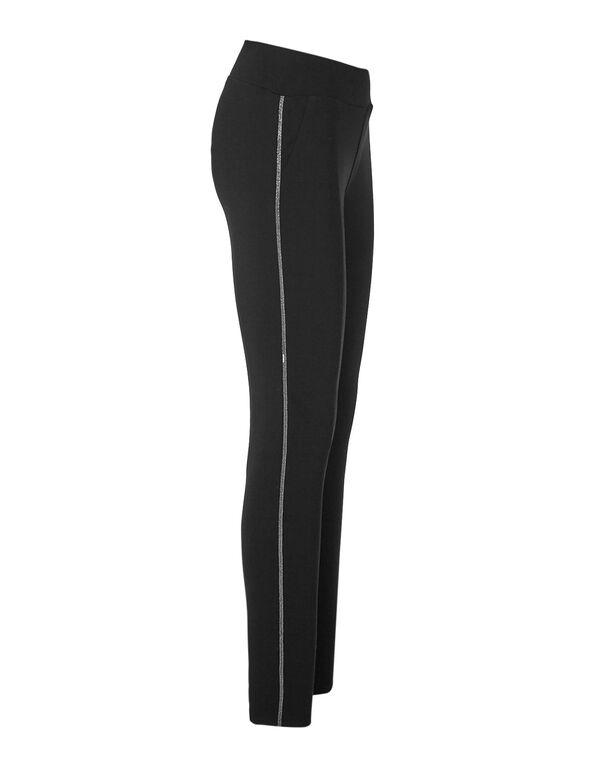 Black Chain Legging, Black, hi-res