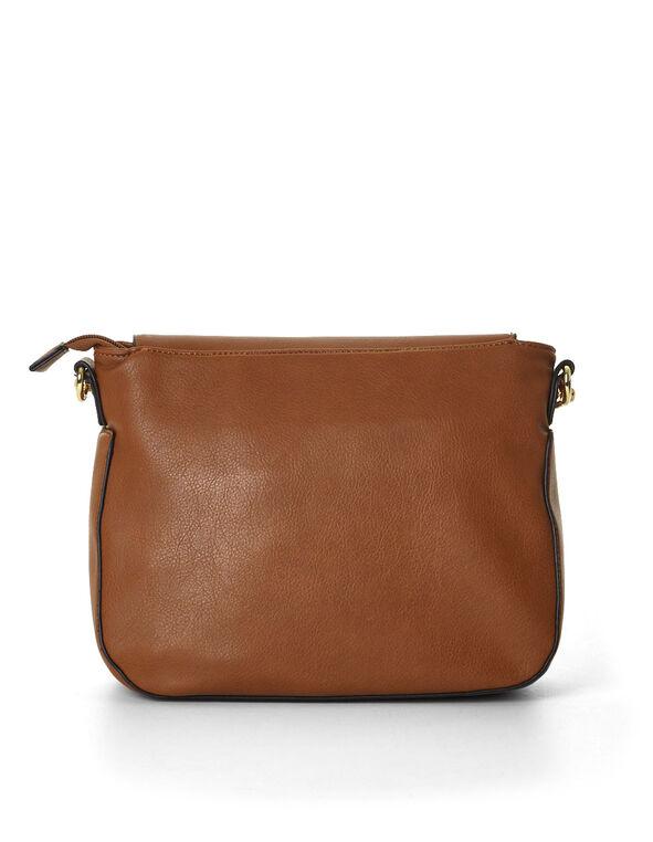 Brown Cross Body Bag, Brown, hi-res