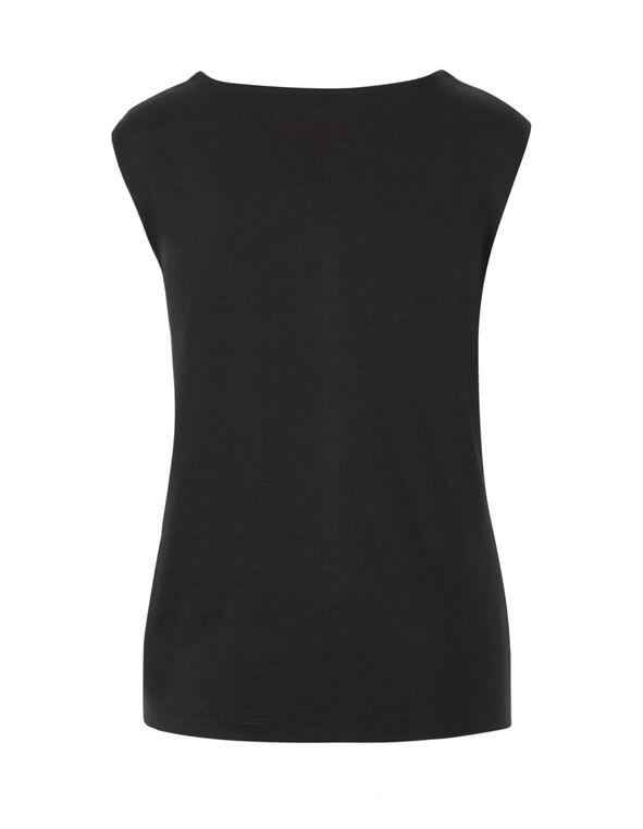Black Lace Top, Black/Ivory, hi-res